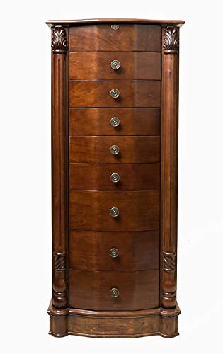 Walnut Elizabeth Jewelry Armoire