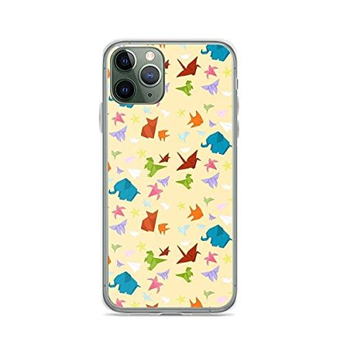 Cajas de teléfono Pure Clear para iPhone Samsung Xiaomi Redmi Note 10 Pro/Note 9/8/9A/Poco M3 Pro/Poco X3 Pro Funda Colorful Origami Funda Protectora de Silicona TPU