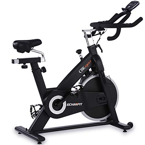 ECHANFIT Magnetic Bike Stationary Exercise Indoor Cycling Bikes with Quiet Belt Drive and...