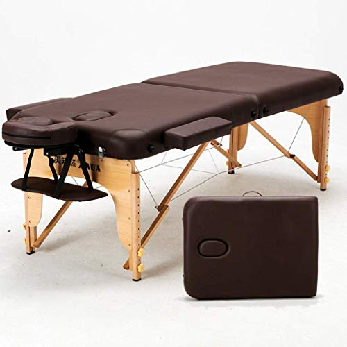 JIANMUDAN Cama de Masaje de Belleza, 2 Sección Mesa de Masaje portátil Cama de sofá Plegable con reposabezas apoyador Mano Paleta para la Terapia de Reiki Tratamiento Salón