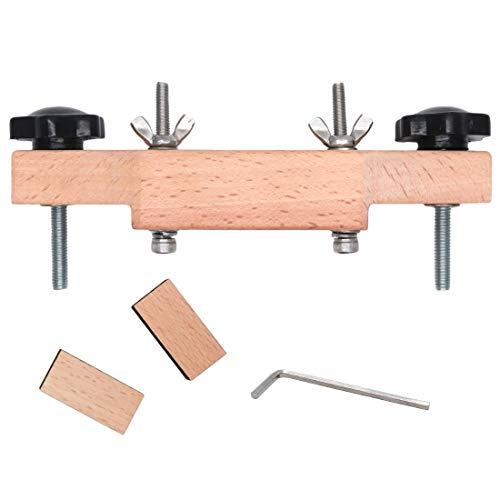 Timiy Solid Mapel Guitar Bridge Clamp Luthier Tools with L Wrench