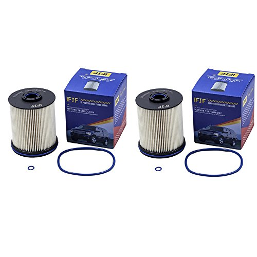 iFJF TP1015 Fuel Filter 5 Micron Filters with Seals Replacement for Chevy/GMC 6.6 2017 Liter Duramax Diesel (Set of 2)
