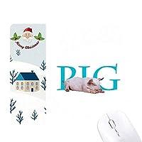 サンタクロース家屋ゴムのマウスパッド