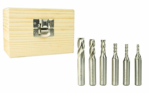 Great Features Of Erie Tools 3/8 High Speed Steel End Mill Kit 4 Flute Includes 1/8, 3/16, 5/32,...