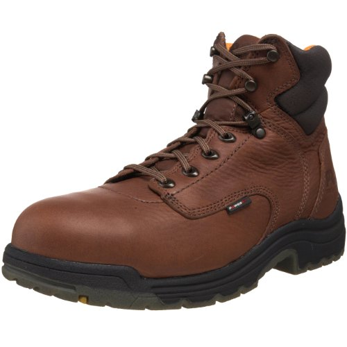 Timberland PRO Titan 6' Alloy Safety Toe Coffee Full-Grain Leather 11.5