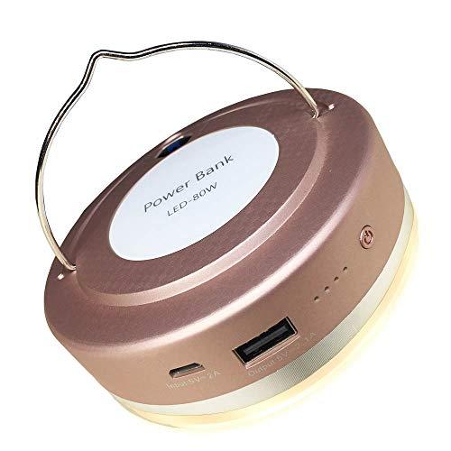LEDランタン キャンプライト 防災ランタン 10000mAh 大容量 USB充電式 3段階調光 高輝度 軽量 目に優しい USBケーブル付き ゴールド