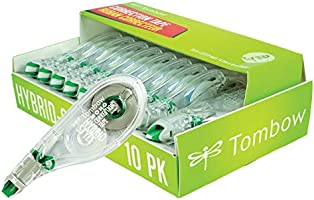 Tombow 68721 Mono Hybrid Correction Tape, 10ct White