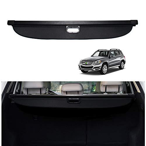 Powerty Cargo Cover for Mercedes Benz GLK-Class 2008 2009 2010 2011 2012 2013 2014 2015 Retractable Rear Trunk Security Cover Shielding Shade Black