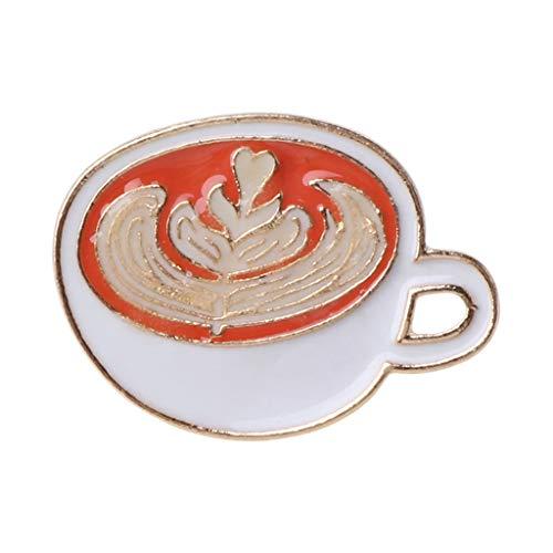 Brosche für Damen, leuchtende Kaffeetasse, Emaille, Anstecknadeln, leuchtet im Dunkeln, Latte Abzeichen, Kleidung, Tasche, Cartoon, Kaffeetasse, Reversnadel, Schmuck