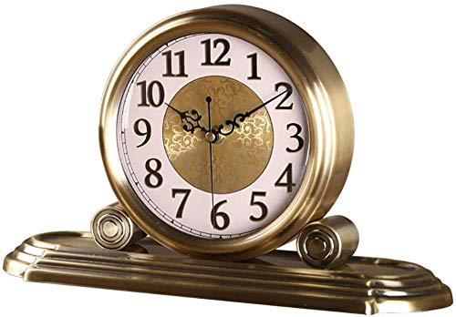 Reloj De Sobremesa, Reloj De Manto Nórdico, Reloj De Escritorio Retro, Reloj Digital Romano De Aleación De Metal, Regalo, Sala De Estar, Decoración De Escritorio Creativa, Reloj Antiguo-Metal