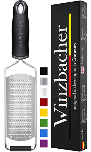 Winzbacher® - Premium Zester Reibe I Parmesanreibe, Zitronenreibe, Muskatnuss Reibe,...