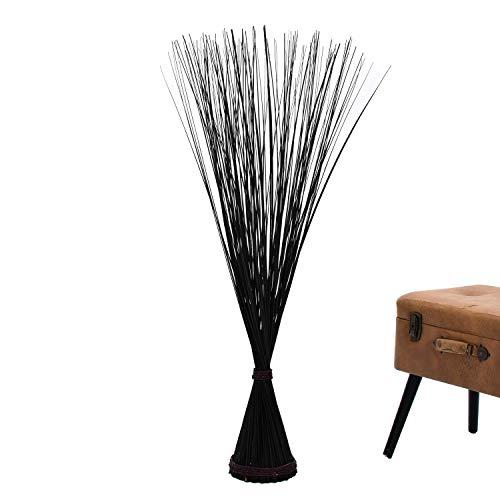 Leewadee Freistehendes Dekobündel Trockengesteck, 120 cm, Getrocknetes Natur-Gras, schwarz