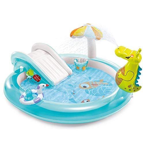 Xjdmg Piscina Inflable for familias y niños, cocodrilo Fuente, Baby Océano Bola de Piscina, Piscina for HRTT