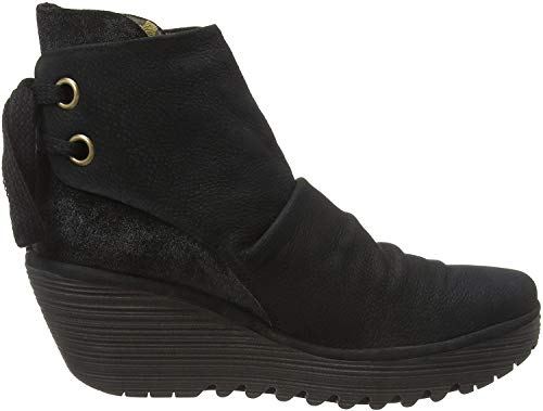 Fly London Yama, Botines para Mujer, Negro (Black/Anthracite 058), 40 EU
