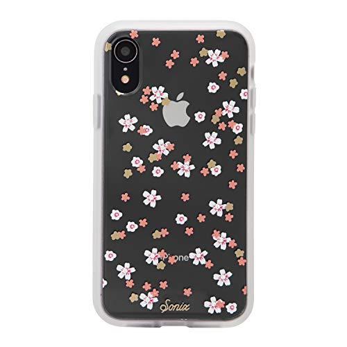 Sonix Floral Bunch Case for iPhone XR [Military Drop Test Certified] Rhinestone Embellished Crystal Flowers Women's Protective Clear Case for Apple iPhone XR