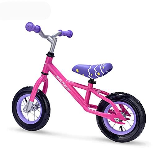 Bicicletas sin pedales, Bicicleta De Equilibrio, Bicicleta De Entrenamiento De Niños Pequeños Durante 18 Meses 2 3 4 Años De Edad, Niños, Liviano, Sin Pedal, Bicicleta, Con Asiento Y Manil(Color:Rosa)