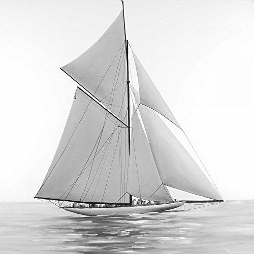 Feeling at Home LEINWANDDRUCKE-Bild-MIT-Rahmen.cm_109_X_109-AtelierBArtStudio-Bad-Kunstdruck-auf-Gerahmte-Leinwand-Segelschiff-V