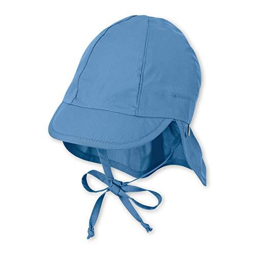 Sterntaler Baby-Mädchen Schirmmütze mit Bindebändern und Nackenschutz Mütze, Blau (Zartblau 399), (Herstellergröße: 43)