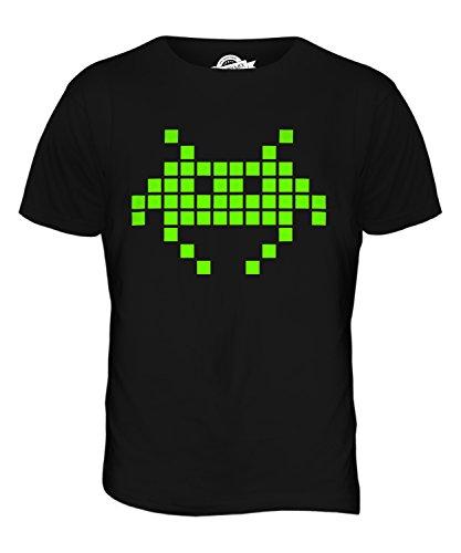 Plus Size Neon Retro Space Invader T-shirt for Men, 4XL, 5XL