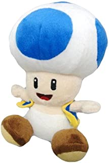 Nintendo Official Super Mario Blue Toad Plush, 6""