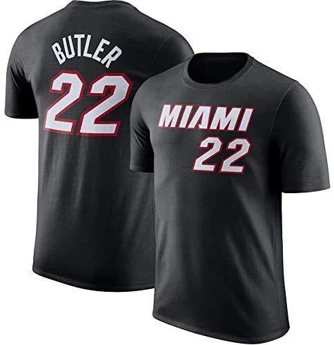 YZY Camiseta De Baloncesto para Hombre NBA Miami Heat # 22 Camiseta De Baloncesto De Jimmy Butler Camiseta De Manga Corta Informal Unisex con Traje De Baloncesto,XXXL(185~190CM)