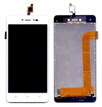 YUVKUZ Display Screen for Lava Z60 Z 60 with Touch Combo Folder Full Assembly Digitizer Glass Replacement, White
