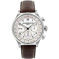 Baume and Mercier Capeland Chronograph White Dial Men's Watch