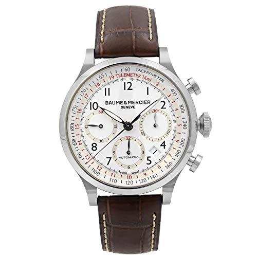 Baume & Mercier Capeland - Reloj (Reloj de Pulsera, Masculino, Acero Inoxidable, Acero Inoxidable, Cuero, Marrón)