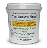 Dead Sea Warehouse-Amazing Minerals Dead Sea Bath Salts,100% Full Mineral Therapeutic Bath Salts, Detoxifying & Moisturizing, Exfoliating for Dry Skin, Unscented(5 lbs)