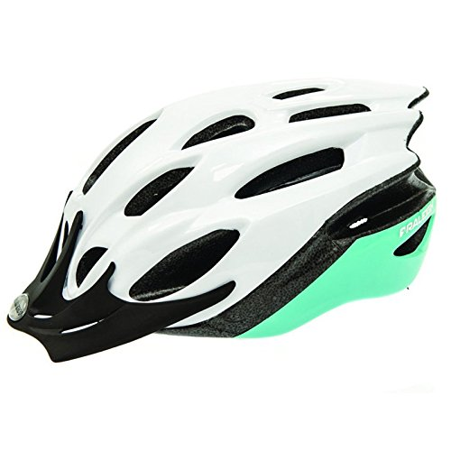 Raleigh Mission Evo Bike Helmet (White/Mint Green, Large (58-62cm))