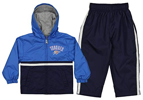 Outerstuff NBA Infants and Toddlers Oklahoma City Thunder Swish Windsuit Jacket & Pant Set, 4T