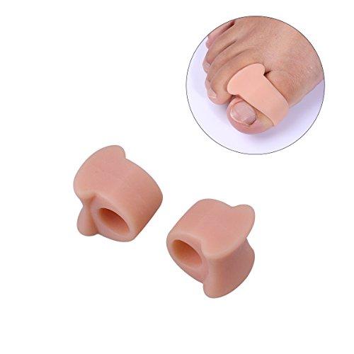 ULTNICE Bunion Toe Spreader Coppia di separatori delle punte Protezioni delle punte per alleviare il dolore (pelle-colore)