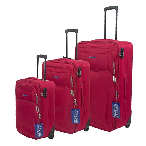 Set 3 Trolley COVERI COLLECTION Rosso