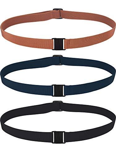 Jovitec 3 Stück Stretch Gürtel Verstellbare Unsichtbare Elastische Gürtel Keine Show Web Gürtel Familie Gürtel für Damen Männer Kinder