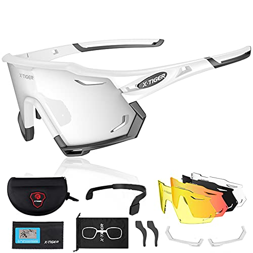 X-TIGER Gafas de Ciclismo con 5 Lentes Intercambiables Montu