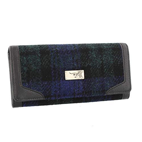 Glen Appin Harris Tweed Mujer Bute Plegable Bolso LB2000 - Color 60 Reloj Negro
