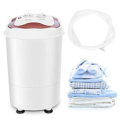Ejoyous 6kg Mini Portable Washing Machine Washing Machine, Automatic And Compact Washing Machine Small Energy Efficient Portable Washing Machine Ideal For 1-2 People