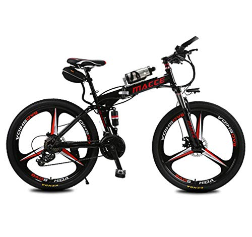 Lvbeis Adulti Bicicletta Elettrica Pieghevole Mountain Bici Pedalata Assistita City Bike Portatile velocità Fino A 25 Km/h E-Bike da Strada
