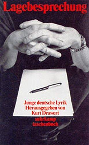 Lagebesprechung: Junge deutsche Lyrik (suhrkamp taschenbuch)
