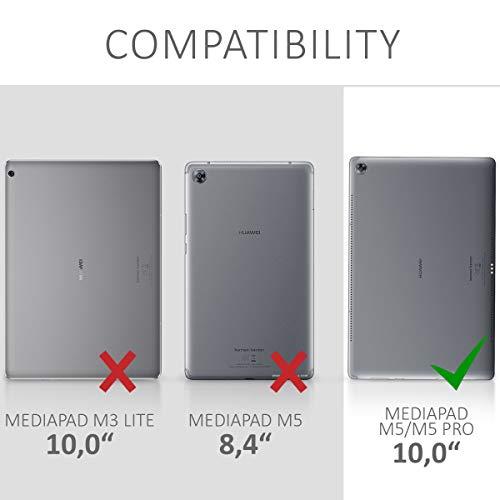 kwmobile Huawei MediaPad M5 10 / M5 10 (Pro) Hülle - Silikon Tablet Cover Case Schutzhülle für Huawei MediaPad M5 10 / M5 10 (Pro) - 5