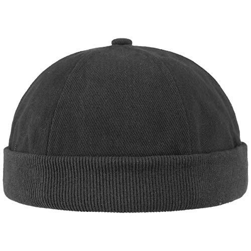 Hutshopping Cotton Dockercap Herren | Mütze aus 100% Baumwolle | Docker in Einheitsgröße (54-61 cm) | Cap mit Klettverschluss | Hafenmütze in Verschiedenen Farben | ganzjährig Tragbar, Schwarz, Einheitsgröße