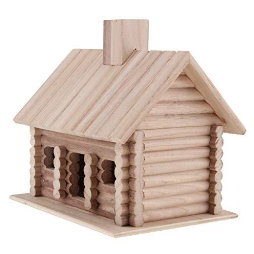 B Blesiya Maison d'oiseaux Nichoirs Boîte Nidification d'oiseaux en Bois Traditionnel - 195x150x185mm
