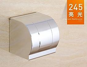 WINZSC Espacio Caja de pañuelos de Papel higiénico baño de Aluminio Titular de Papel de baño a Prueba de Agua sostenedor de Papel sostenedor de Papel Titular de Papel lo4