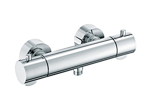 Keuco Brause-Thermostat-Batterie Plan Edelstahl-Finish, 54926070100