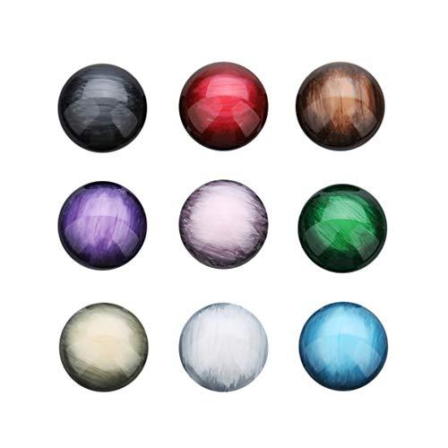 HEALLILY 30 Piezas de Medio Cabujón de Media Caña con Cuentas Redondas Naturales Piedras Preciosas Semipreciosas Cúpulas Camafeos para Hacer Joyas (Color Mezclado12mm)