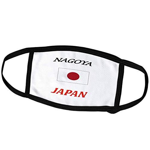 Promini Monatsmaske - Lens Art von Florene - Japan Städte mit Flaggen - Bild der Wörter Nagoya Japan mit Japan Flagge - Staubmaske Outdoor Schutzmaske