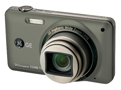 GE General Electric E1486TW cámara Digital (14 Megapixel, 8X Zoom óptico, 3,0 Pulgadas+, 28-mm Gran Angular, Opt. Bildstabilisator, Touch Panel) [Importado de Alemania] Graphit-Grau