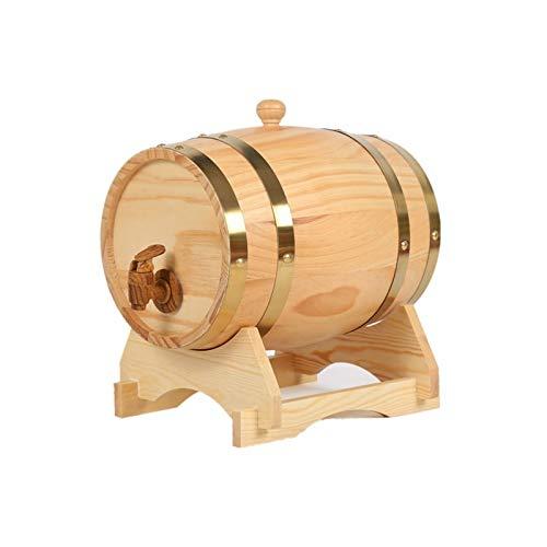 HWhome Barril De Vino Multifuncional 5L/10L/15L/25L/50L Cubo De Whisky De Roble, Barril Barril Envejecido Barril De Cerveza, Utilizado para Almacenar Whisky Brandy Cóctel Vino Durable(Size:25L