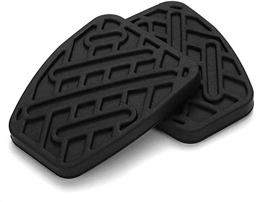 Delete for Nissan Qashqai Kupplungsbremspedal Gummiauflage Abdeckung, EIN Paar Auto Kupplungspedal Pads, Black-Antirutsch