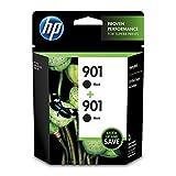 HP TWO HP 901 BLACK INK CARTRIDGES wireless hp printer Nov, 2020